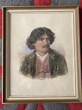 Aquarell Bild Von 1898 - Antonio Lostratrore - Antik - Hinter Glas