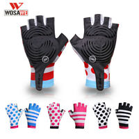 Half Finger Cycling Gloves Anti-skid MTB Bike Bicycle Mitts Breathable Sports