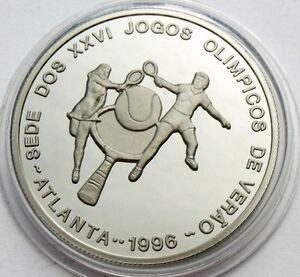 ST. THOMAS & PRINCE ISLAND 1000 DOBRAS 1993 ATLANTA OLYMPICS TENNIS PLAYERS RARE