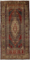 "Hand-knotted Turkish Carpet 4'11"" x 9'10"" Konya Anatolian Traditional Wool Rug"