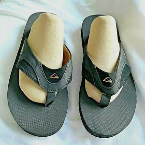 Mens Reef Size 7.5 Thong Flip Flop Slide Sandals Platform OS6 Black Brown Wide