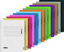 Set a 9 Stück Pappschnellhefter,Aufdruck beidseitig Motiv Schulfach