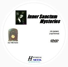 INNER SANCTUM MYSTERIES - 170 Shows Old Time Radio In MP3 Format OTR On 1 DVD