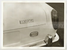 1971 Rolls-Royce Corniche: name-plate on the rear - Vintage Original Photo