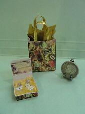 Dollhouse Victorian Chic Perfume bottles in box and bag set artist 1:12 OOAK #6