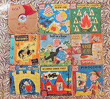 NINE VINTAGE 1940's EARLY 1950's CHILDREN'S RECORDS SOME DOUBLE SETS MID CENTURY