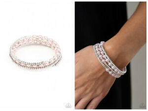 NWT! Paparazzi ~ Starry Strut ~ Pink Coil Bracelet