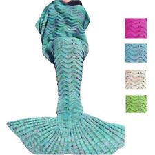 Handgefertigte Meerjungfrau Schwanz Decken Sofa Teppich Bettdecke Schlafsack neu