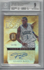 TRACY MCGRADY 2014-15 PANINI GOLD STANDARD MOTHER LODE AUTO 10/49 BGS 9/AU 10