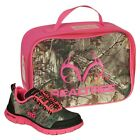 Realtree Miss Eagle Tennis Shoes, Camouflage Youth Girls Kids + Free Lunch Box