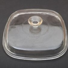 "Vintage Pyrex Replacement Square Lid 9 1/2 ""x 9 1/2"" Clear Glass"