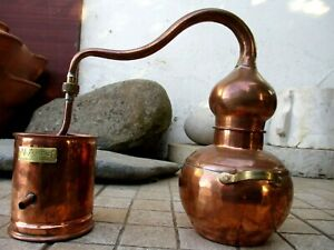 Vintage in Copper Distillery Alambicco Alembic Still Moonshine & Whiskey 1,5 Lt.
