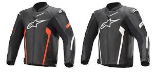 Alpinestars Faster v2 Men's Biker Jacket Airy Summer Sport Leather Jacket
