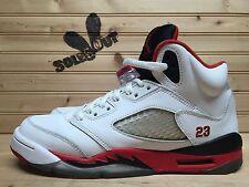 2013 Nike Air Jordan Retro V 5 sz 6.5y GS Fire Red Black Tongue 440888-120