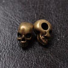 10Pcs Tibetan silver Gold Bronze,Skull DIY Paracord Bracelet Jewelry Beads K40