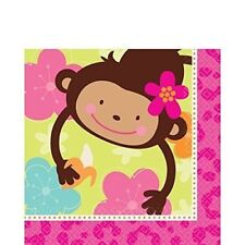 MONKEY LOVE Napkins Birthday Party Supplies 16-pc 2-ply