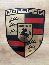 Old Porsche Badge Enamel Sign Large NOS Condition !