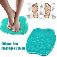 Silicone Non-Slip Foot Scrubber Massager Pad Shower SPA Soft Mat Skin Cleaner