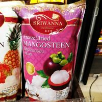 6 PACK FREEZE DRIED MANGOSTEEN SNACK DELICIOUS NATURAL TROPICAL FRUIT THAILAND