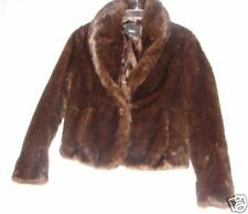Fur Coat ~ Brown Faux Fur Coat or Jacket~ size Medium very nice Browns ~ Size M