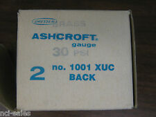 ASHCROFT 30PSI  1001 XUC GAUGE