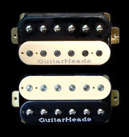 Guitar Parts GUITARHEADS PICKUPS ZBUCKER HUMBUCKER - SET 2 - BLACK CREAM ZEBRA
