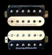 Guitar Parts GUITARHEADS PICKUPS ZBUCKER HUMBUCKER - SET 2 - BLACK CREAM ZEBRA