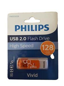 10x Philips 128GB USB 2.0 Flash Drive High Speed Vivid Stick Orange BNIB Genuine