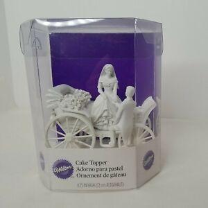 Wilton Wedding Cake Topper - Just Married - Carriage, Bride, Groom - NIB