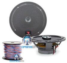 """pkg FOCAL 165CA1 CAR AUDIO 6.5"""" 2WAY COAXIAL SPEAKERS + TRUE 16 GAUGE 50 FT WIRE"""