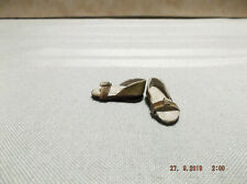 """Dollhouse Miniature 1:12"""" Scale Handcrafted Open Toe Shoes"""