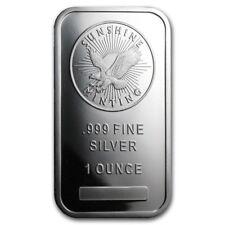 Lingot SUNSHINE 1 Once d'argent pur 999 / SUNSHINE MINT 1 Oz Fine Silver 999 Bar