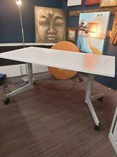 Fold Away Office Desks in white, x2 available 140cm wide . Excellent condition
