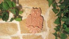 Terracotta Wandbild Eule Uhu Glück Tier Baum Toskana Deko Garten Haus