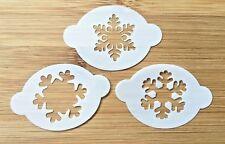 Face paint stencils christmas snowflakes  set 3 Myler 2.5 inch x 1.75
