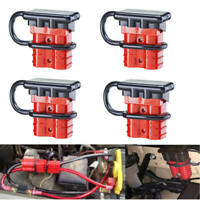 4Pc 50A Battery Quick Connect Disconnect Kit Wire Harness Plug For Car SUV Winch