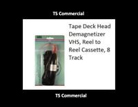 Tape Deck Head Demagnetizer VHS, Reel to Reel Cassette, 8 Track