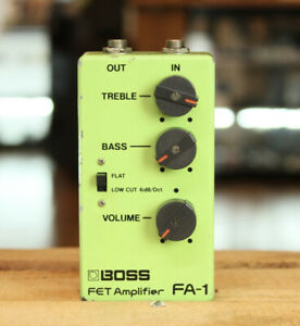 On sale!!BOSS FA-1 Fet Amp Vint 80's Boss Preamp Used without Battery Box Cover
