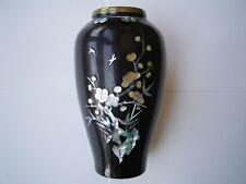 Wunderschöne alte chinesische Emaillé Vase mit Perlmutt aus Nachlaß