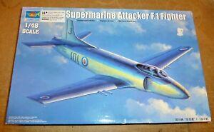 Trumpeter 02866 Supermarine Attacker F1 Fighter  Plastic Kit 1/48 bagged