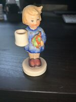 Vintage Hummel #115 Girl With Flowers Candleholder TMK3 W. Germany