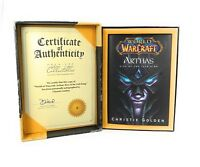 World of Warcraft Arthas Rise of the Lich King Golden Christie Signed! Numbered
