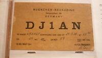 OLD VINTAGE QSL HAM RADIO CARD POSTCARD, MUENCHEN NEUAUBING GERMANY 1958