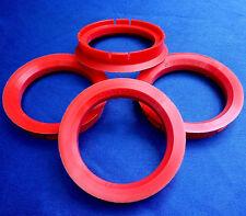 (Z33) 4 Stück  Zentrierringe  Reduzierringe 70,0 / 56,6 mm rot für Alufelgen