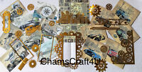 Craft clearout mix, card toppers / paper die cuts, bundle joblot vintage bun mb2