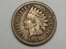 1864 Civil War Era US C/N Indian Head Penny.  #138