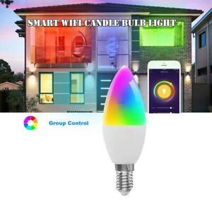 New LED Wifi Light E14 Smart Life Lamps Candles Bulb For Alexa Google Home