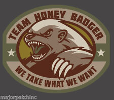 TEAM HONEY BADGER MULTI TACTICAL VINYL DECAL STICKER MILITARY CAR VEHICLE WINDOW
