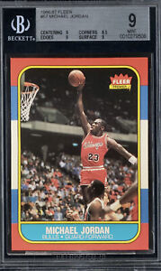 Michael Jordan 1986 Fleer #57 Rookie Card BGS 9