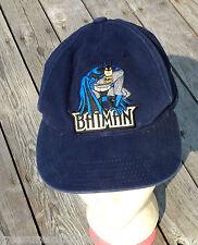 Batman Snapback Cap Baseball Hat Snap Back Navy Blue Adjustable DC Comics TW